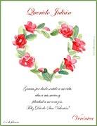 Tarjetas de navidad para imprimir. Flores
