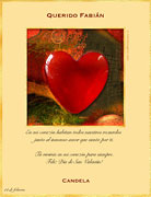 Tarjetas de navidad para imprimir. Corazón