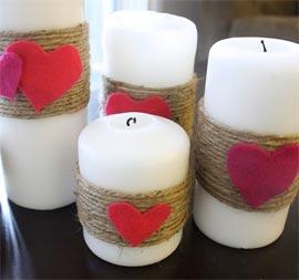 Corazones colgados  San Valentin